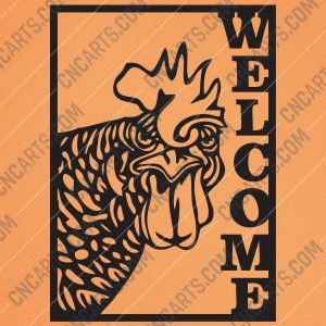 Welcome Chicken Rooster Cock