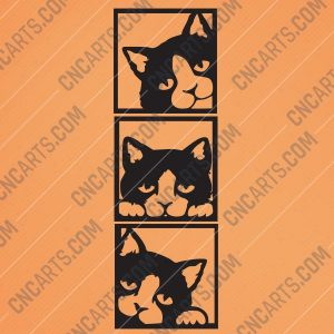 Wall Decor Cats Design file - EPS AI SVG DXF CDR REF00138