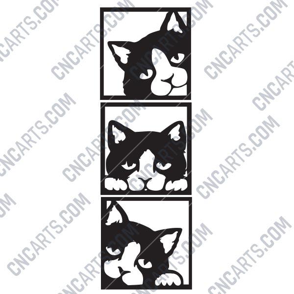 Wall Decor Cats Design File Eps Ai