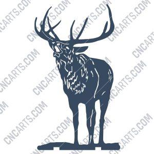 Deer Design file - EPS AI SVG DXF CDR