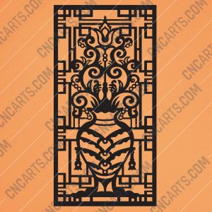 Pattern panel screen Design files - EPS AI SVG DXF CDR R00140