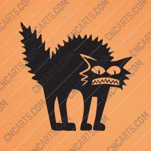 Shaggy cat Design file - EPS AI SVG DXF CDR