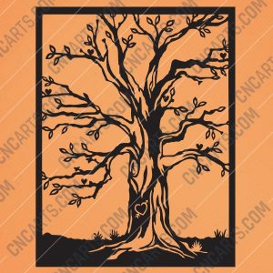 Tree love design files - EPS AI SVG DXF CDR