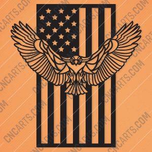 American Eagle Flag Design files - EPS AI SVG DXF CDR
