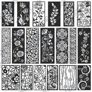 Pack Flowers design files - DXF EPS AI SVG PDF CDR