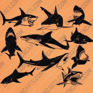 Shark Design file - EPS AI SVG DXF CDR
