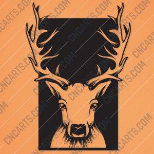 Deer head Design file - EPS AI SVG DXF CDR