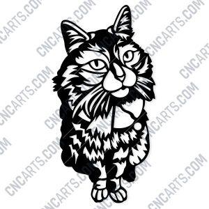 Panno cat Design file - EPS AI SVG DXF CDR