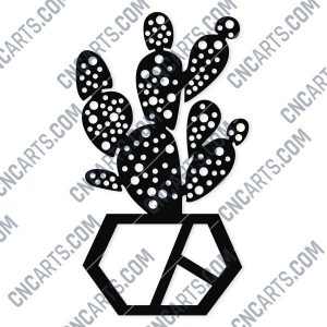 Cactus Wall Vector Design file - DXF SVG EPS AI CDR