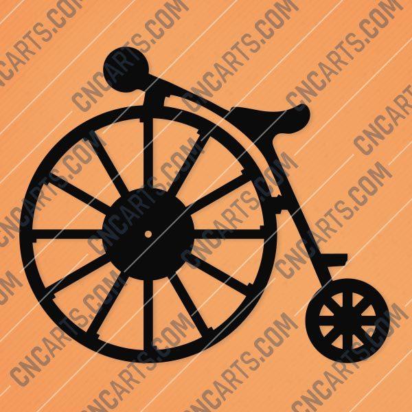 Vintage Bike Wall Clock Design file - DXF SVG EPS AI CDR