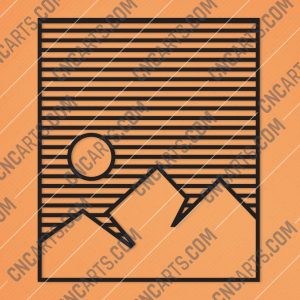 Mountain Stripes Wall Art Vector Design files - DXF SVG EPS AI CDR