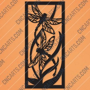 Dragonfly Wall Art Design files - DXF SVG EPS AI CDR