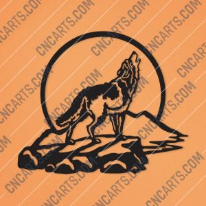 Wolf Art Vector Design file - DXF SVG EPS AI CDR