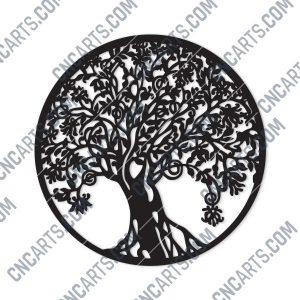 Tree Art Design files - DXF SVG CDR EPS AI - P199