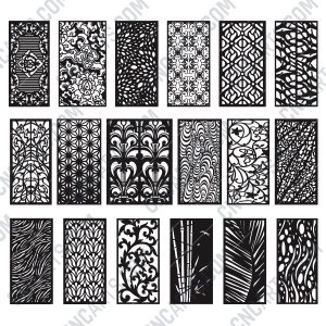 Panels Patterns And Scenes Decorative DXF SVG CDR EPS PNG AI P0212