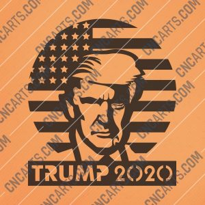 Donald Trump 2020, Keep America Great - DXF SVG EPS AI CDR