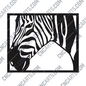 Zebra Wall Decoration vector design files - DXF SVG EPS AI CDR