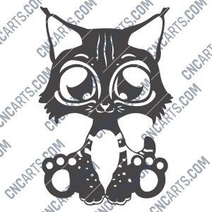 Cute cat design files – DXF SVG EPS AI CDR