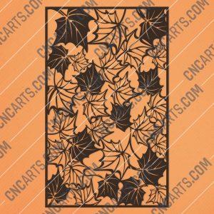 Leaf pattern decorative - DXF SVG CDR EPS PNG AI P0242