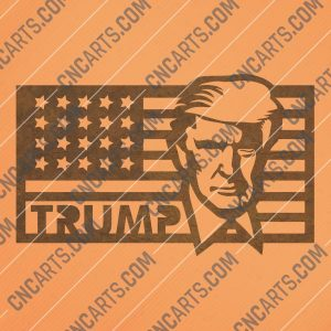 Donald Trump - Make America Great Again - DXF SVG EPS AI CDR