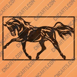 Horse wall decor design files – DXF SVG EPS AI CDR