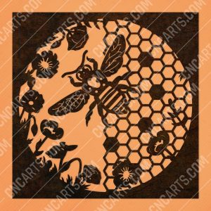 Honeycomb wall decor design files - DXF SVG EPS AI CDR