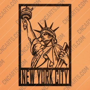New york city vector design files - DXF SVG EPS AI CDR