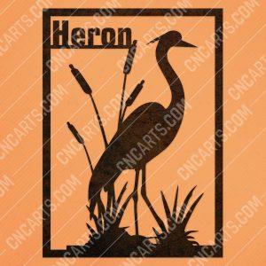 Heron flamingo vector design files - DXF SVG EPS AI CDR
