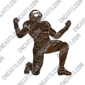 Football player vector design files – DXF SVG EPS AI CDR