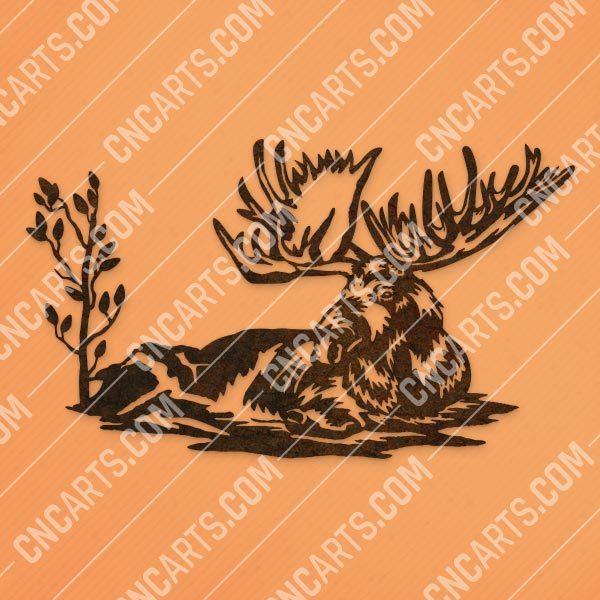 Moose vector design files - SVG DXF EPS AI CDR